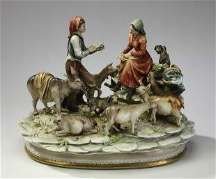 Antonio Borsato porcelain grouping The Posey