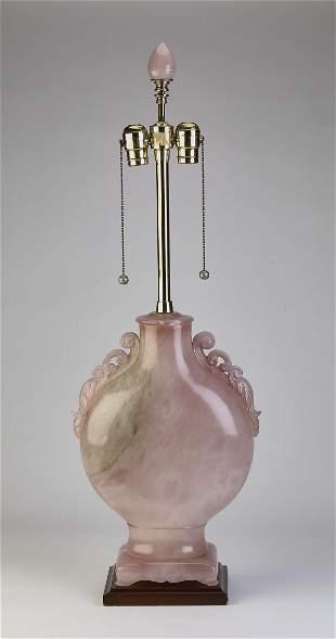 "Mabro Hollywood Regency quartz table lamp, 33""h"