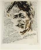 LeRoy Neiman signed etching Robert Kennedy