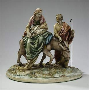 Antonio Borsato porcelain, 'Flight into Egypt'