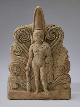 19th c. architectural fragment depicting Hercules