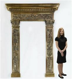 Monumental Renaissance style bronze entryway