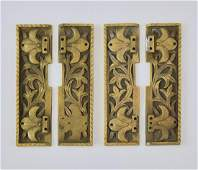 4 Early 20th c bronze appliques 7h