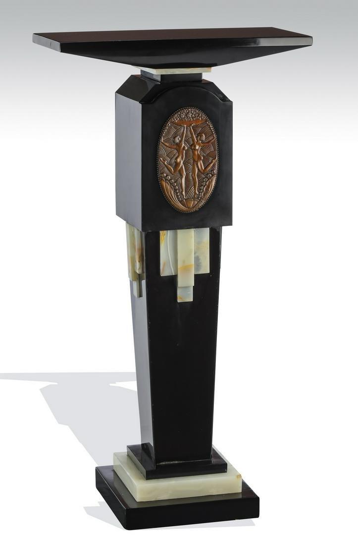"""Art Deco pedestal after Demetre Chiparus, 42""""h"""