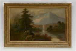 19th c American School Oc landscape