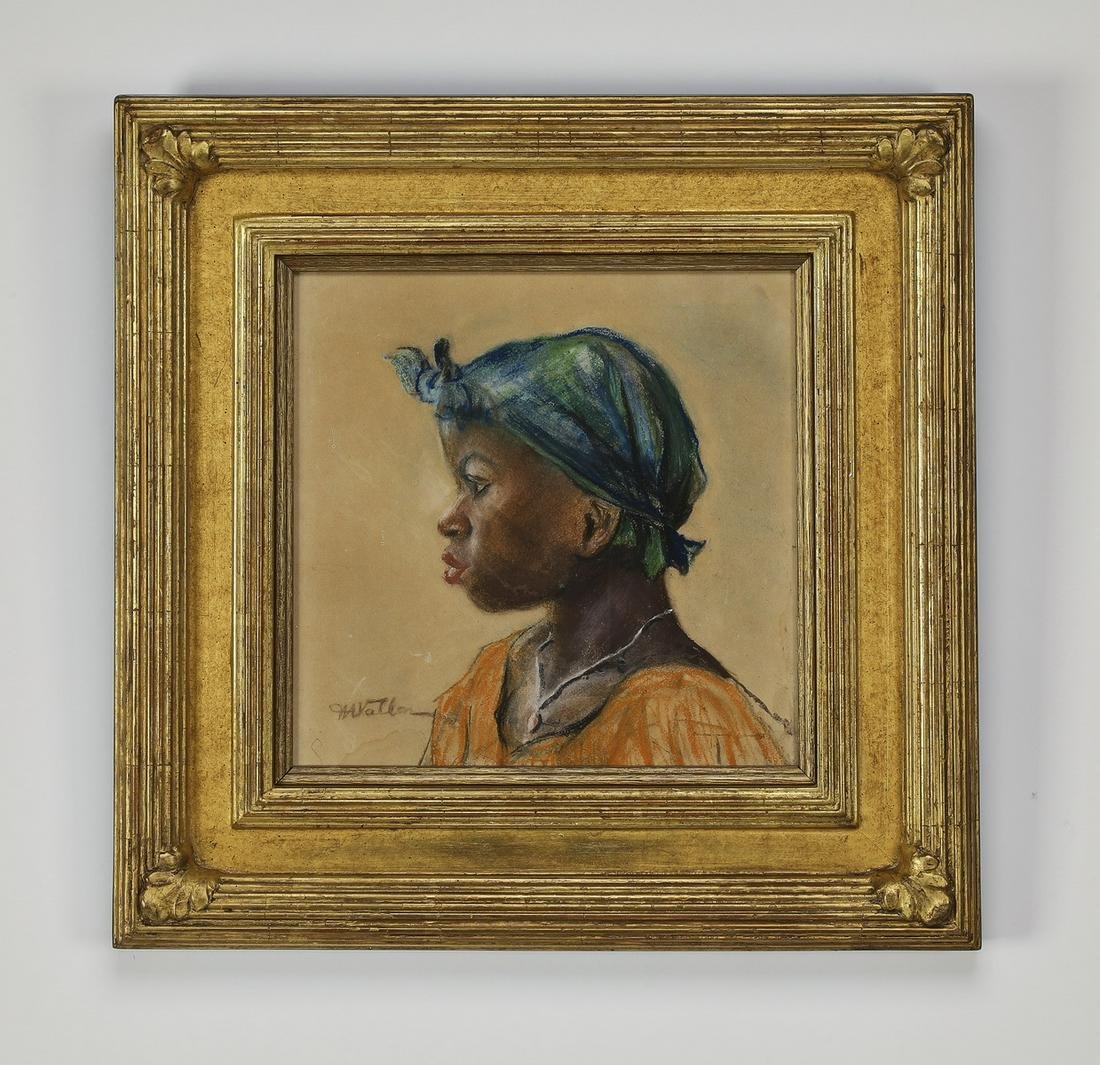 Signed early 20th century American School portrait