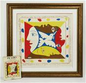 2 pcs Signed Picasso silk scarf 1951 and book