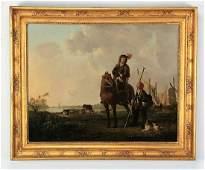 After Aelbert Cuyp, 19th c. equestrian portrait