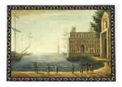 Continental O/c of Venetian scene w/ ships