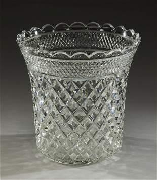 Webb cut crystal ice bucket early 20th c