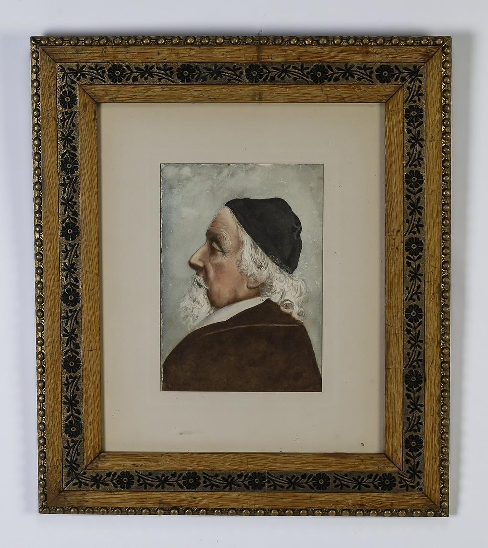 19th c. Continental W/c portrait of Richard Horne