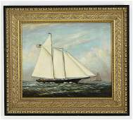 D. Taylor signed O/c marine painting