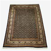Hand knotted wool, signed, Indo-Tabriz, 14 x 10