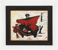 Signed mid 20th c. O/c 'The Bullfighter'