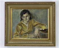 Anne Graile Helioff Oc portrait of a seated woman
