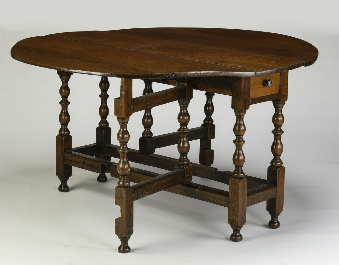 18th c. English Jacobean style oak gateleg table