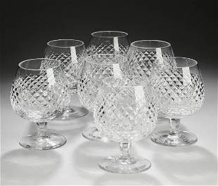 (7) Waterford crystal Alana brandy snifters