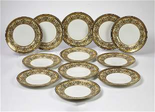 (12) Charles Ahrenfeldt Limoges plates, ca 1900