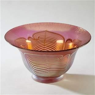 Signed Steven Correia art glass center bowl