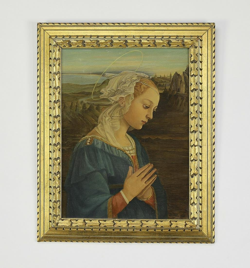 Madonna O/c after Fra' Filippo Lippi, early 20th c.