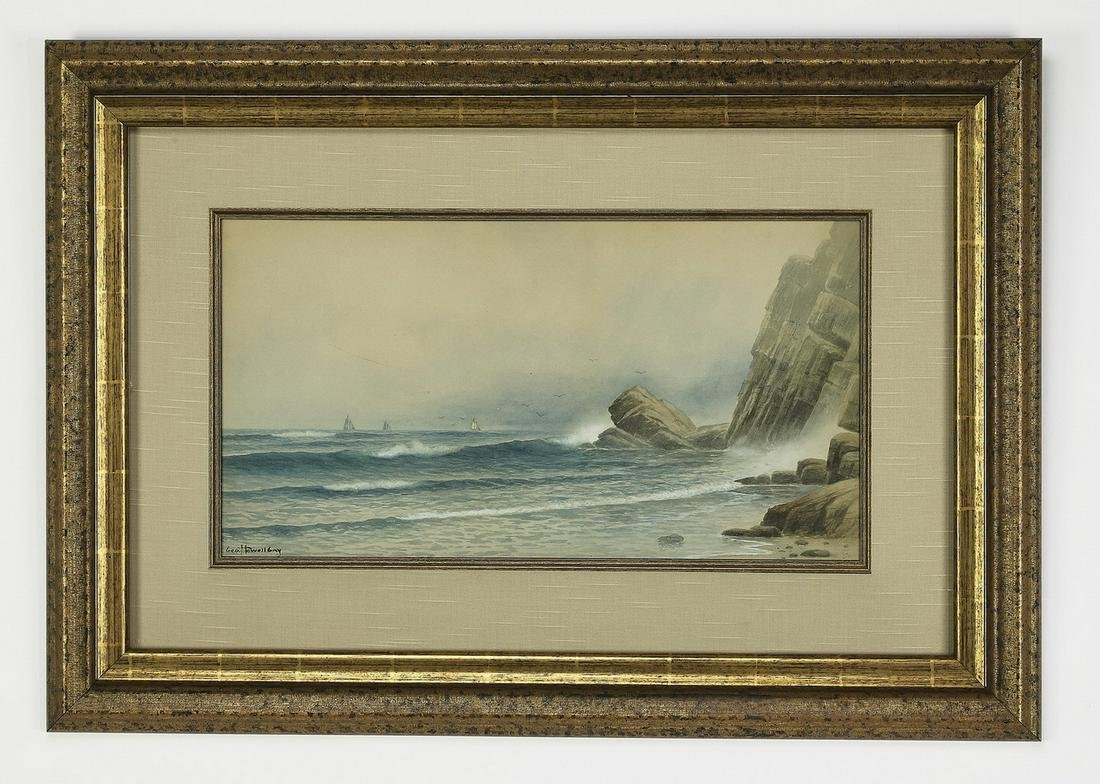 George Howell Gay signed W/c seascape, early 20th c.