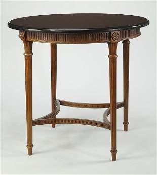Sheraton style bar height table w black granite top