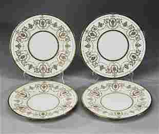 4 Mintons gilt decorated porcelain plates 9dia