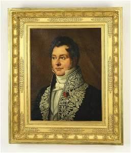 19th c. Continental O/c portrait of a gentleman