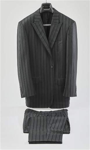 Two piece single breasted striped suit