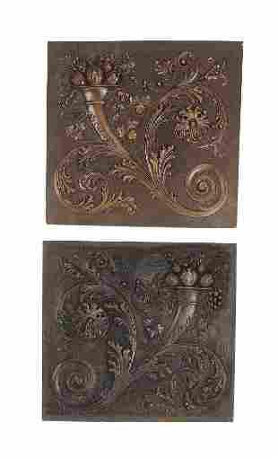 2 Cornucopia architectural panels 15h