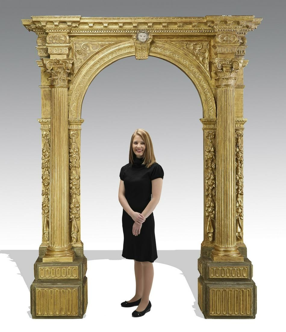 Monumental French gilt-decorated entryway