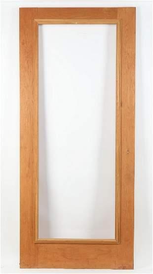 Monumental solid quarter sawn oak frame or door panel