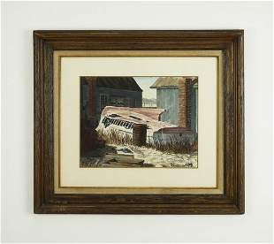 Early 20th c boat yard Wc signed