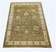 Hand knotted wool Sino-Oushak rug, 14' x 10'