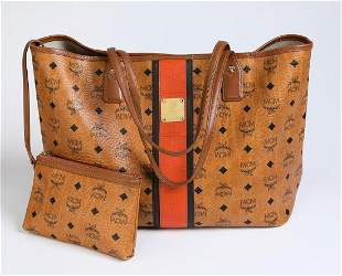 Authentic MCM Center Line Shopping Tote