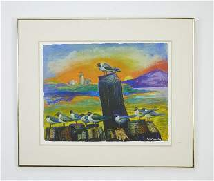 Sven Swenson signed serigraph Dawning of a New Day