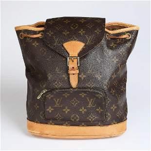 Authentic Louis Vuitton Montsouris MM Backpack