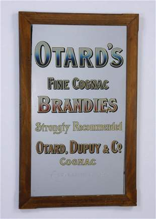 Early 20th c mirrored advertising sign