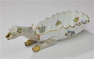 Herend 'Queen Victoria' handpainted dragon dish