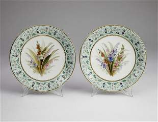 (2) Royal Worcester cabinet plates, ca 1874