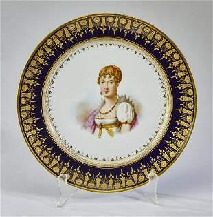 Sevres 'Marie Louise' porcelain plate, ca 1804