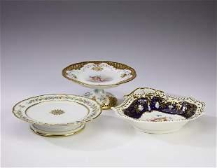 (3 pcs.) Porcelain serving bowl and compotes