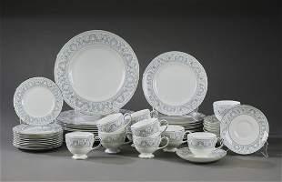 (50 pc) Wedgwood 'Dolphins' porcelain dinnerware