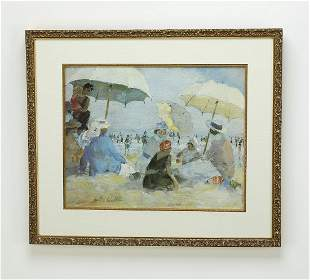 After Marth Walter litho of beach scene