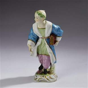 Continental porcelain Chinese scholar, 19th c.