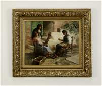 John C Arter signed Oc of three Venetian ladies