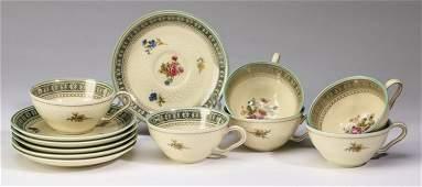 (12 pcs) German espresso cups w/saucers, marked