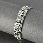 Art Deco style diamond and platinum bracelet