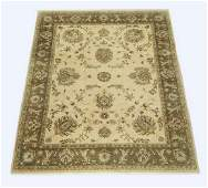 Hand knotted wool Sino-Oushak rug, 10' x 8'