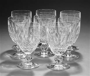 (8) Waterford Colleen pattern crystal water goblets